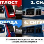 PRIKLJUČITE SE! BEOGRAĐANI GLASAJU: Evo koji dizajn beogradskog metro ima najviše sviđanja